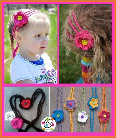 Pattern: Hearts and Flowers Headband