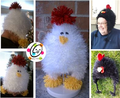 Free Pattern Chicken And Rooster Hats