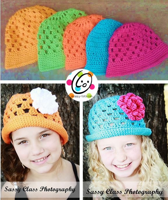 Free Pattern Sunny Brimmed Cloche Snappy Tots