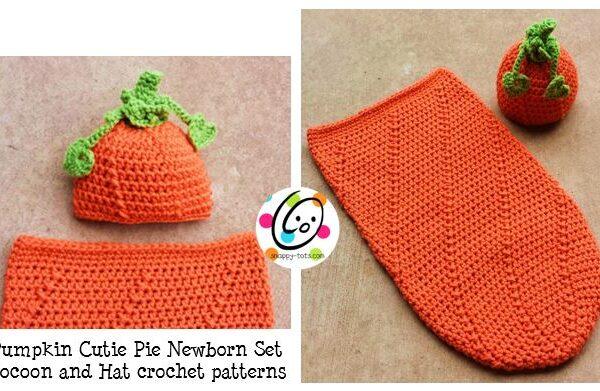 Pattern: Newborn Baby Pumpkin Hat and Cocoon
