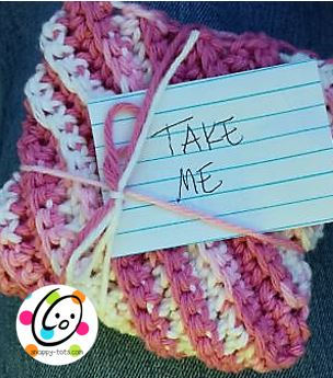 Yarn Bombing With Simple Crochet Washcloths
