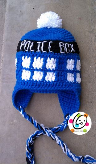 Pattern: Police Box Beanie