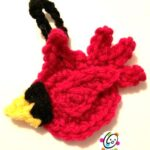 Free cardinal crochet ornament.