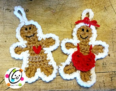 Free gingerbread crochet pattern.