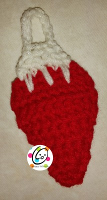 free crochet bulb ornament pattern.