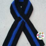 Pattern: Thin Blue Line Scarf