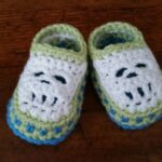 Crochet: First grandbaby slippers