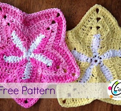 starfish dishcloth free crochet pattern