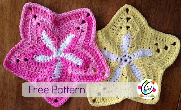 Featured Pattern: Starfish Dishcloths ~ SnApPy ToTs