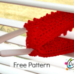 Free crochet pattern. Use to clean blinds, ceiling fan blades, glasses and more.