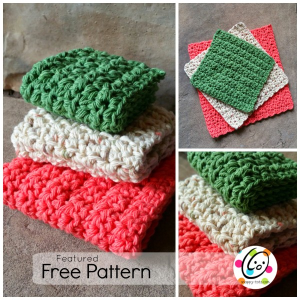 Srubby For Kitchen: Featured Free Pattern: Just Right Dishcloths