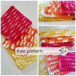 Pattern: Puffy Waffles Wash Cloth
