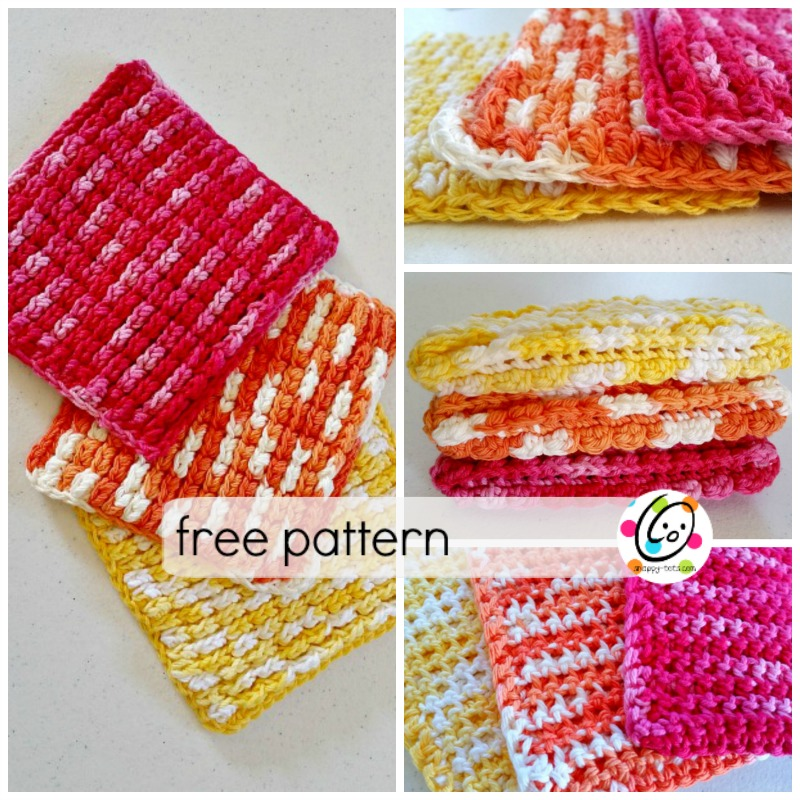 Pattern: Puffy Waffles Wash Cloth