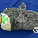Shark cocoon and backpack pattern.