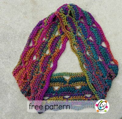 Free Crochet Unique Scarf Patterns : Freebie: Unique scarf gets a makeover ~ Snappy Tots