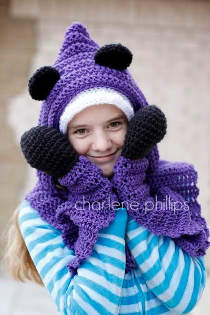 Crochet: Hooded Bear Scarf