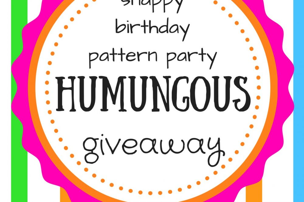 Snappy Birthday Pattern Party Giveaway