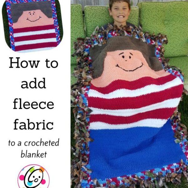 DIY: adding fleece backing to a crocheted blanket