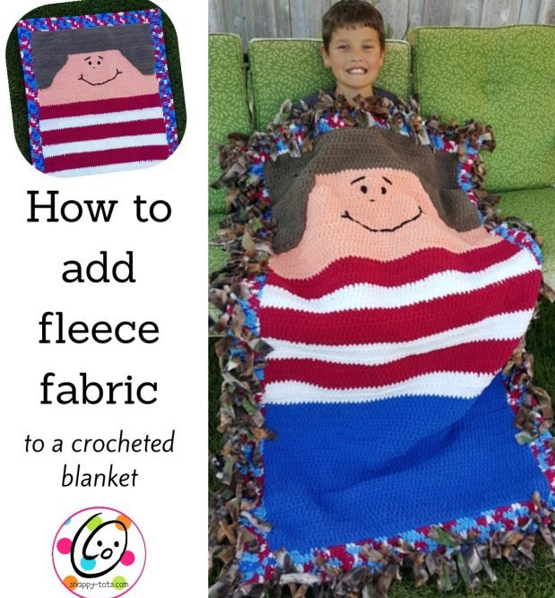DIY: adding fleece backing to a crocheted blanket