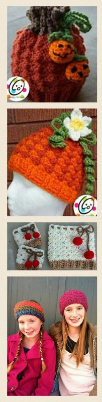 Crochet patterns for beanie, cowl, earwarmer, and boot cuffs.
