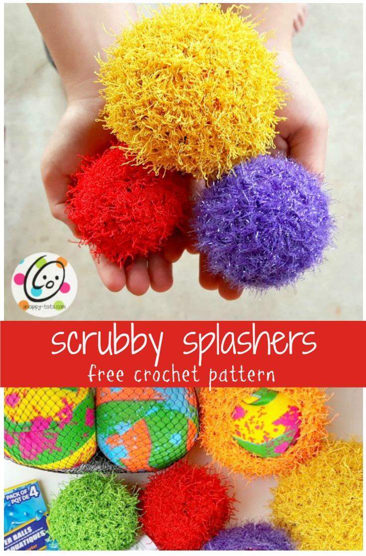 Free Pattern Scrubby Splash Balls Snappy Tots